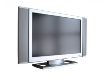 A flat panel television.
