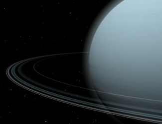 The planet Uranus.