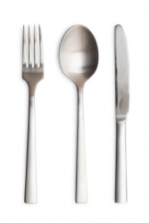 A set of utensils.