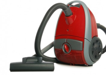 A cannister style vacuum cleaner.