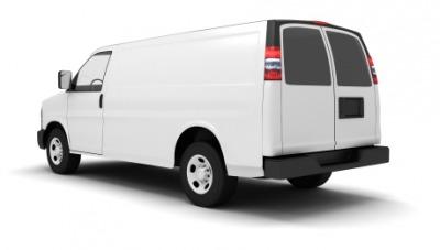 A white van.