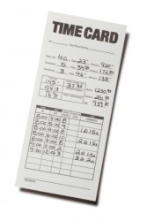 This time sheet is used to calculate wages.
