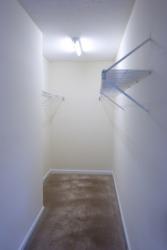 An empty walk-in closet.