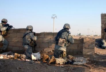 A war scene.