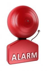 This alarm will sound a warning.