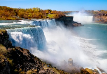Niagara Falls is a famous waterfall.