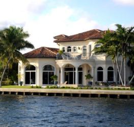 A waterfront house.