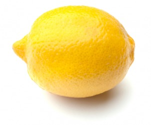This lemon is yellow.