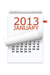 A calendar for the year 2013 A.D.