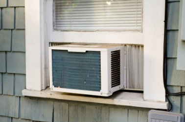 An ac window unit.
