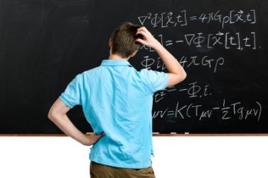 A math problem baffles a student.