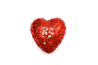 A bedazzled red heart.