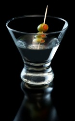 A vodka martini contains alcohol.