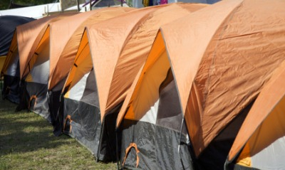 An example of a bivouac.