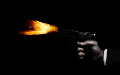 A gun blast.
