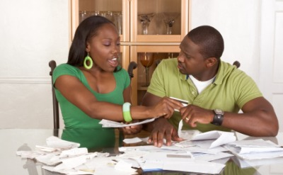 Finances are a bone of contention with this couple.