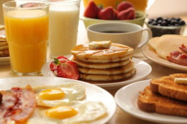 These are all examples of breakfast food.