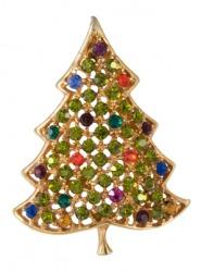 A Christmas tree broach.