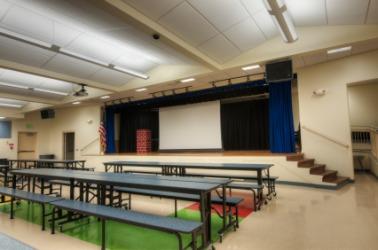 An empty cafetorium.