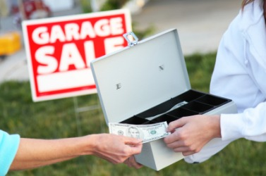 A garage sale operates on a cash and carry basis.