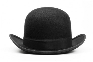 A derby hat.