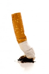 A cigarette butt is called a fag.