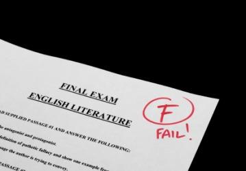 A failed test.
