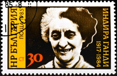 Indira Gandhi was the first female prime minister of India.