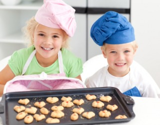 These children made cookies.