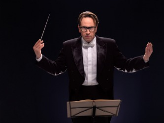 A conductor for an orchestra is a maestro.