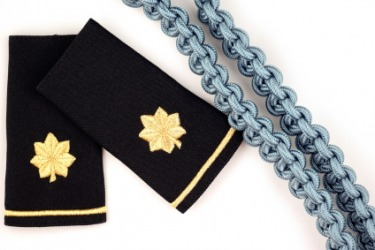 Shoulder epaulets of a major in the United States Army.