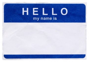 You would write your name on this tag.