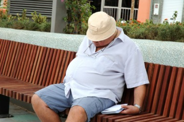 A man suffering with obesity.