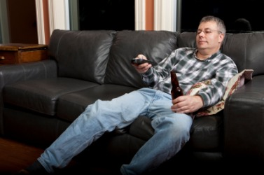 This man is sedentary.