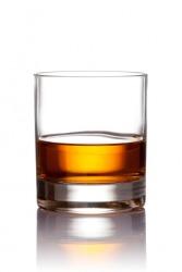 A glass of scotch.