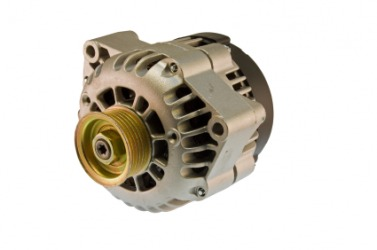 An alternator for an automobile.