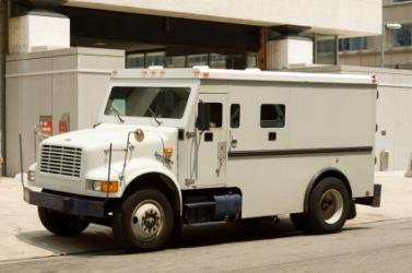 An armored car.