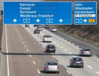 A German autobahn.