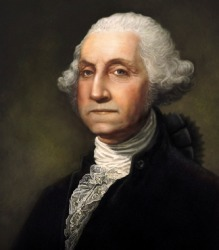 The first president of the United State, George Washington.
