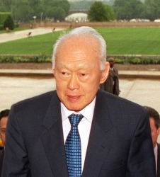 Former Prime Minister of Singapore, Lee Kuan Yew.