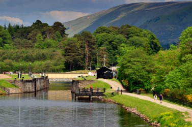 A picturesque view of the Caledonian Canal.