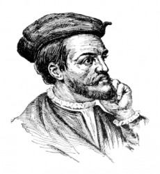 A portrait of Jacques Cartier.