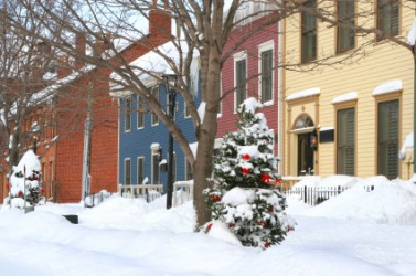 Winter in a residential area of Charlottetown.