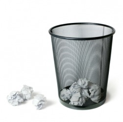 A wastebasket is sometimes referred to as the circular file.