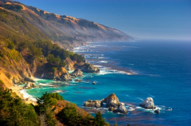 A portion of the California coast.