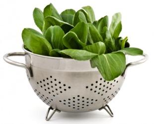How do you drain vegetables?