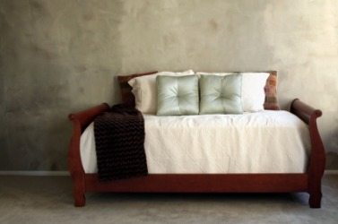 A comfortable looking daybed.