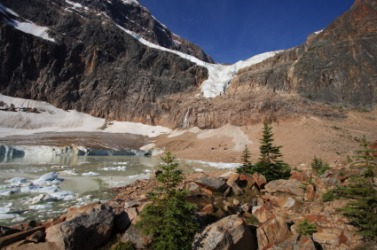 Angel Glacier at Mount Edith Cavell.