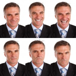 The many expressions of one man.