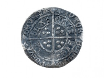 A silver groat from the fifteenth century.
